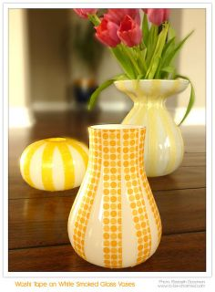 #DIY - Washi Tape on Vases - To...