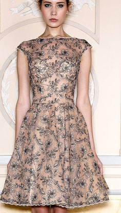 Zuhair Murad Spring 2013. A lot of girls are going with the transparent floral look lately and i have too say; im quite the fan