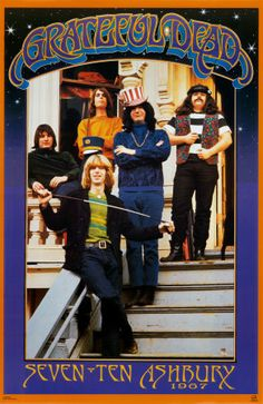 The stairs at 710 Ashbury, SF... with the Grateful Dead, in 1967.