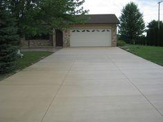 Colored concrete driveway