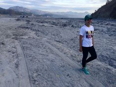 Ashes left during the volcanic eruption (Mt. Pinatubo)