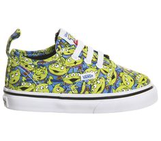 7f21c9c5a9eaa3 Vans Authentic Lace Toddlers Aliens Toy Story - Unisex. Authentic Velcro  Lace Toddlers