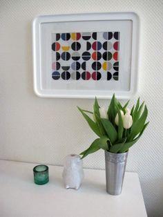 Stoff im Rahmen, Tags Wohnen + Rahmen + Ikea + Wandgestaltung