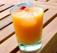 "Peach Paradise: ""This is a perfect tropical rum drink! It's flavorful and not too sweet."" -Baby Kato"