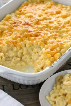 Macaroni and cheese casserole!This Creamy Macaroni and Cheese Casserole is a show stopper! It's easy to make with tons of rich cheese sauce and a secret ingredient making it extra delicious!