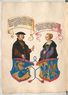 Fugger Ehrenbuch Date between 1545 and 1549 Workshop of Jörg Breu the Younger 1500s Fashion, German Outfit, Arm Art, The Secret Book, Medieval Clothing, Central Europe, Small Paintings, 14th Century, Adele