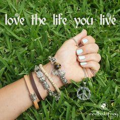 Love the Life you Live  #redbalifrog #beads #bracelets #silverbeads #love #life