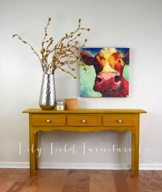 A Fresh Fall Table #DIY #furniturepaint #paintedfurniture #countrychicpaint #sofatable #mustardyellow #fallcolors #shabbychic #rustic #chalkpaint - blog.countrychicpaint.com