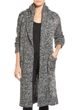 coin 1804 Cozy Chunky Long Hooded Cardigan