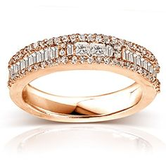 Diamond Wedding Band 4/5 carat (ctw) in 14K White Gold_9.5_Rose Gold Kobelli http://www.amazon.com/dp/B00X13GXKE/ref=cm_sw_r_pi_dp_9fWQvb1Y1EBA3