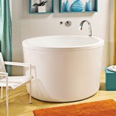 Compact Bath new tall soaking tub from stone forest - enjoy deep relaxation