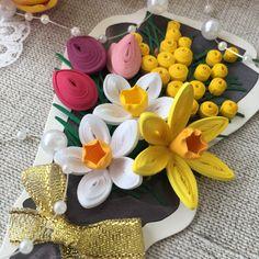 Весенние цветы в технике квиллинг. Quilling