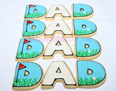DAD Father's day Birthday GOLF THEME Decorated by PalmBeachPastry, $39.00