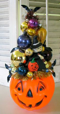 BOO Vintage Over The Top Halloween Decoration by dimestorechic on Etsy https://www.etsy.com/listing/203615367/boo-vintage-over-the-top-halloween
