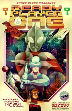 Ready Player One by Ernest Cline, amazing book for nostalgic nerds
