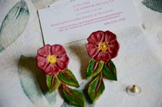 A personal favorite from my Etsy shop https://www.etsy.com/listing/280048616/pink-blossom-earrings-made-of-tooled