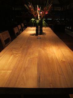 Ungasan Dining Table in reclaimed teak, designed by DvdG for Kayu Naga.