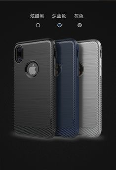 """For Apple iPhone X Case 5.8"""" Thin Matte Carbon Fiber Brushed TPU Silicone Back Cover For iPhoneX Cover Features 1. 100% Original Cases, 2. Made of high-quality Material Silicon 3."""