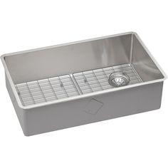 crosstown 31 5   x 18 5   undermount kitchen sink lustertone 27   x 19   undermount kitchen sink with drain assembly      rh   pinterest com