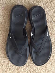 85b43a09b5db New Women s s Nike Ultra Celso Thong Sandals Flip-Flops Black Slides Size 8