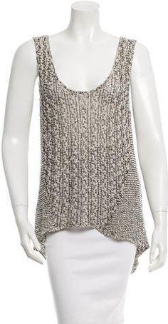 Helmut Lang Knit High-Low Tank Helmut Lang, Crochet Top, High Low, Knitting, Stylish, Clothing, Tops, Women, Fashion