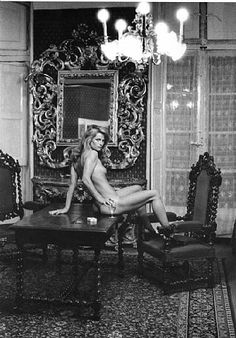 Helmut Newton, Charlotte Rampling at the Hotel Nord Pinus II, Arles