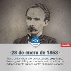 #UnDíaComoHoy nace José Martí, prócer y mártir de la independencia cubana.