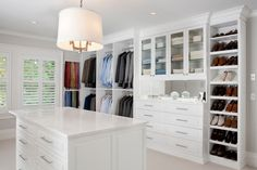 White Painted Maple Dressing Room, Westchester County, NY traditional closet