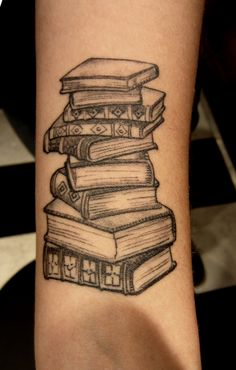 Cool book tattoo!