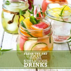 Flush The Fat Away With These 5 Delicious Drinks! #flushthefataway #drinkrecipes