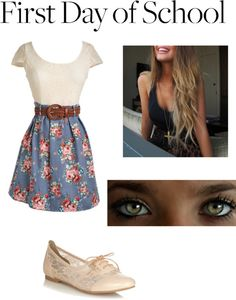 """""""first day of school outfit!"""" by makena-paige-ohlmaier ❤ liked on Polyvore"""