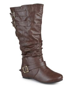 Look what I found on #zulily! Brown Tiffany Slouchy Extra-Wide Calf Boot #zulilyfinds