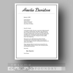Professional Resume Template / CV Template Cover by ResumeFoundry