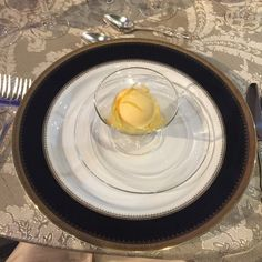 Pin for Later: I Ate the Last Dinner Served on the Titanic. Feast Your Eyes . . . Course 6 Punch Romaine — lemon-orange sorbet, Champagne, white wine simple syrup
