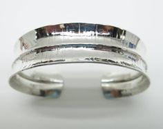 Silver Cuff, Anticlastic Cuff, Fold Formed Cuff, Statement Cuff, Sterling Silver Bracelet, Handmade, Metalsmith Jewelry, Art Jewelry, Modern