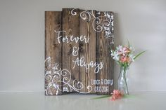 Wedding Date Sign  Personalized Wedding Sign  by TinHatDesigns
