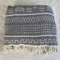 Cotton Throw Blanket Coastal Beauty - Charcoal - Yummy Linen Linen Sheets, Linen Bedding, Beauty Charcoal, Large Throws, Cotton Kimono, Cotton Throws, Quilt Cover, Slow Fashion, Dusty Rose