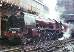 No.46251 'City of Nottingham'. Coronation Class 4-6-2 Birmingham (New Street). 12 July 1964. Photo by Ricsrailpics