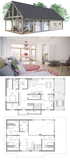 Einfamilienhaus mit Einliegerwohnung - Haus Grundriss Celebration - grundriss küche mit kochinsel