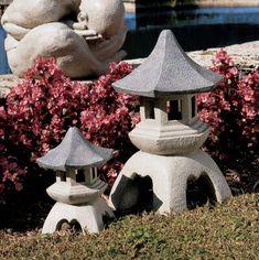 Bring Eastern Traditions and Asian Influences to Your Garden European Garden, Small Garden Art, Garden Angels, Small Japanese Garden, Garden Lanterns, Zen Garden, Japanese Garden, Pagoda Lanterns, Garden Sculpture