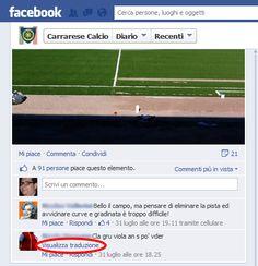 Per Facebook il dialetto di Carrara è una lingua straniera! :D