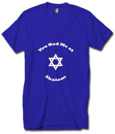 Cute Tee You Had Me At Shalom by ChaiCreationsForYou on Etsy
