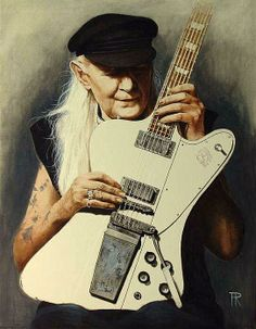 Johnny Winter by Theo Reijnders