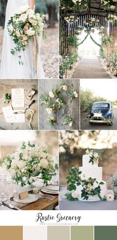 Rustic Greenery Barn Wedding Inspiration Board