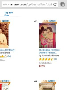 The Eligible Princess is at no. 42 #Amazon #Kindle #bestsellers #Indianhistory #historical #romance  http://www.amazon.com/Eligible-Princess-Lakshaya-Kamboj-Princesses-ebook/dp/B00Z09FAQA