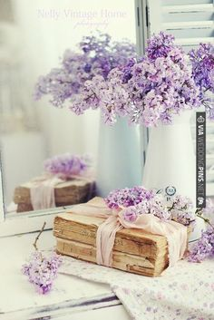 light with a vintage feel, use as a purple lilac wedding bouquet or table and wall decor   VIA #WEDDINGPINS.NET