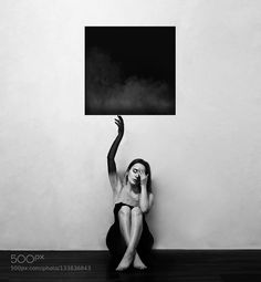 Say Hello Melancholia - Pinned by Mak Khalaf Abstract black and whitegirl by Cant-stop