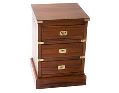 Military Bedside Chest of 3 Drawers