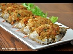Crab Relleno(Filipino dish)not a big seafood fan but will cook it for my hubby. Filipino Dishes, Filipino Recipes, Asian Recipes, Healthy Recipes, Filipino Food, Filipino Seafood Recipe, Pinoy Recipe, Delicious Recipes, Seafood Dishes