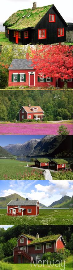 Norwegian old cottages #Norway ☮k☮ #Norge